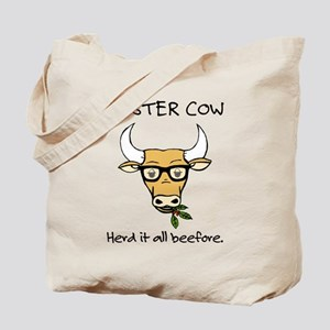 Hipster Cow Tote Bag