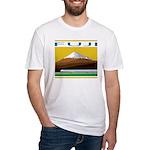 Ukiyo-e - 'Mount Fuji' Fitted T-Shirt