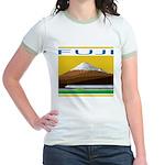 Ukiyo-e - 'Mount Fuji' Jr. Ringer T-Shirt