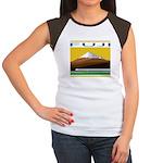 Ukiyo-e - 'Mount Fuji' Women's Cap Sleeve T-Shirt
