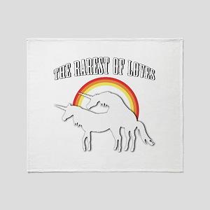 The Rarest of Loves Throw Blanket