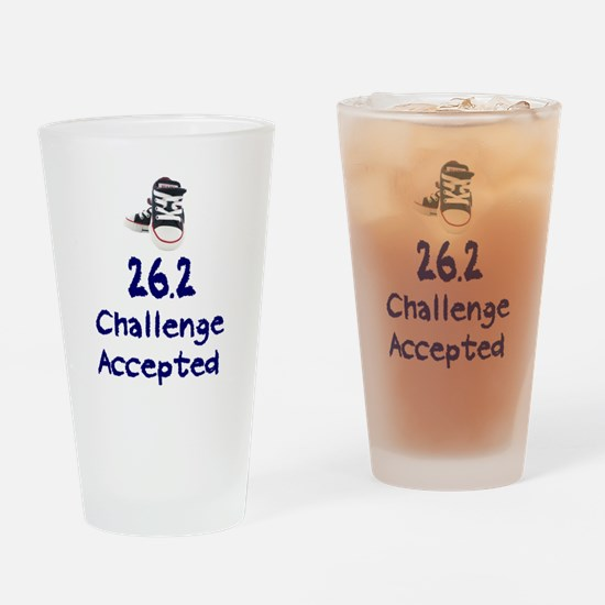 26.2 Challenge Accepted Drinking Glass