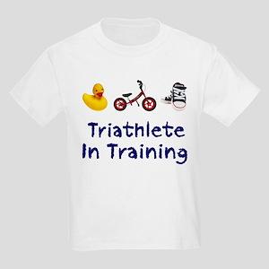 Triathlete in Training Kids Light T-Shirt