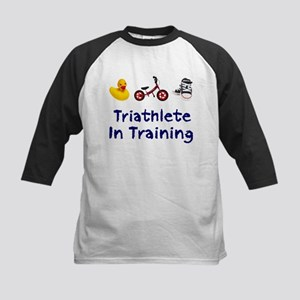Triathlete in Training Kids Baseball Jersey