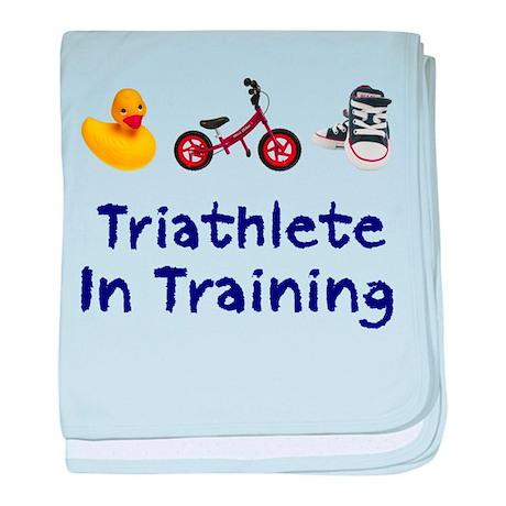 Triathlete in Training baby blanket