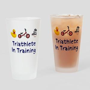 Triathlete in Training Drinking Glass
