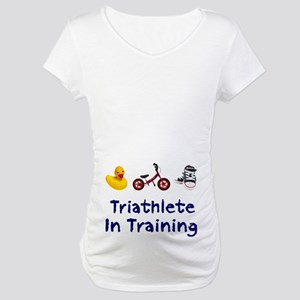 Triathlete in Training Maternity T-Shirt