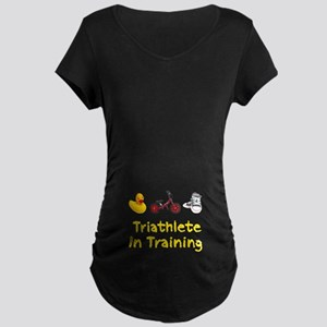 Triathlete in Training Maternity Dark T-Shirt