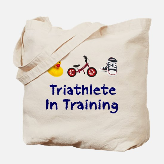 Triathlete in Training Tote Bag