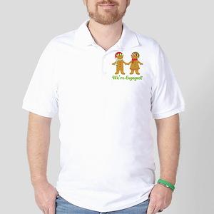 Christmas Engagement Golf Shirt