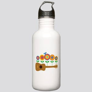 Ukulele Flowers Stainless Water Bottle 1.0L
