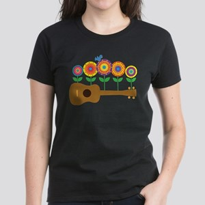 Ukulele Flowers Women's Dark T-Shirt