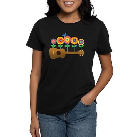 Ukulele Flowers Women's Dark T-Shirt
