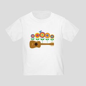 Ukulele Flowers Toddler T-Shirt