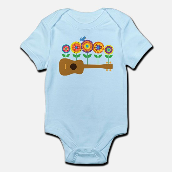 Ukulele Flowers Infant Bodysuit