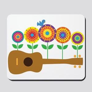 Ukulele Flowers Mousepad