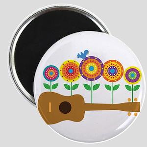Ukulele Flowers Magnet