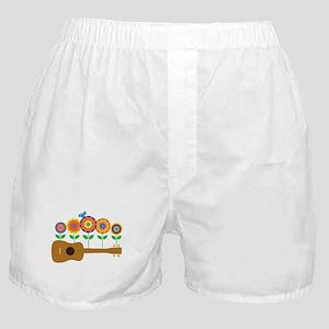 Ukulele Flowers Boxer Shorts