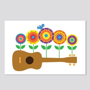 Ukulele Flowers Postcards (Package of 8)
