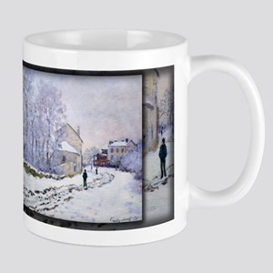 Monet Painting, Snow in Argenteuil, Mug