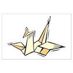 Ukiyo-e - 'Origami Bird' Large Poster