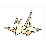 Ukiyo-e - 'Origami Bird' Small Poster