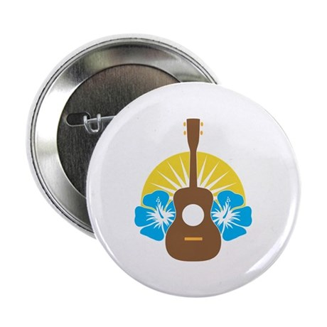 "Ukulele Hibiscus 2.25"" Button (100 pack)"