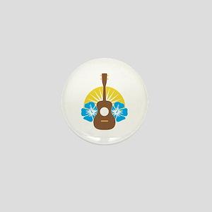 Ukulele Hibiscus Mini Button