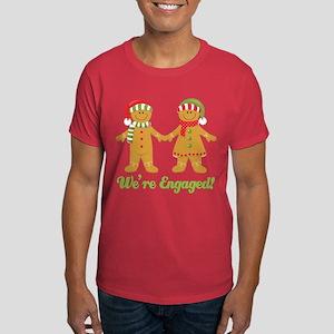 christmas engagement dark t shirt