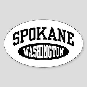Spokane Washington Sticker (Oval)