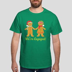 Christmas Engagement Dark T-Shirt