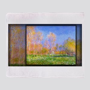 Springtime in Giverny, Monet, Throw Blanket