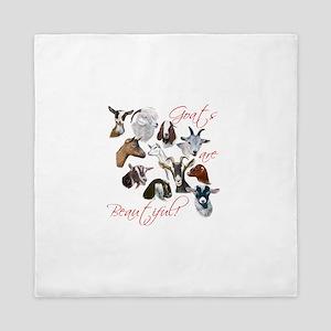 Goats are Beautiful Queen Duvet