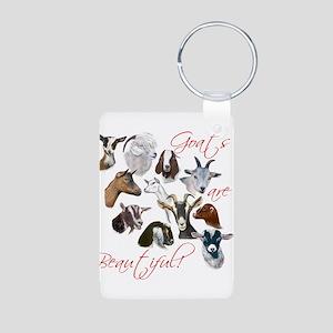 Goats are Beautiful Aluminum Photo Keychain