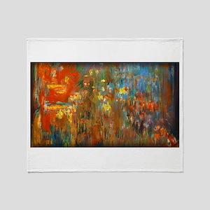 Monet Painting Throw Blanket