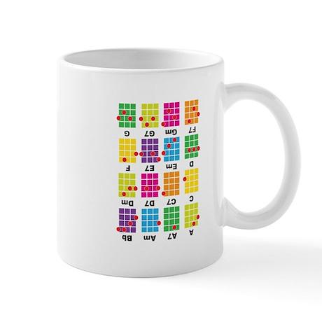 Chord Cheat Tee White Mug