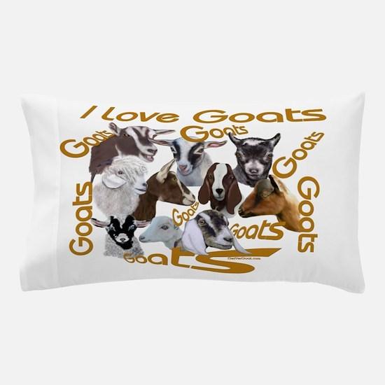 I love Goat Breeds Pillow Case