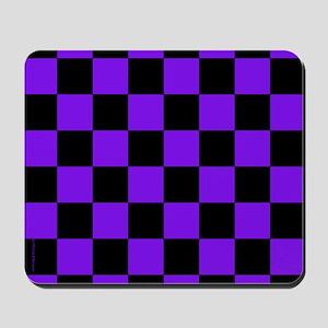 Purple and Black Checker Board Mousepad