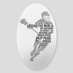 Lacrosse LAX Player Sticker (Oval)