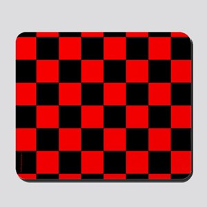 Red and Black Checker Board Mousepad
