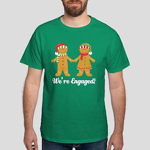 We're Engaged Christmas Dark T-Shirt