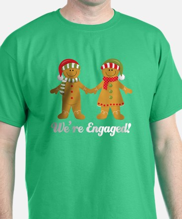 We're Engaged Christmas T-Shirt