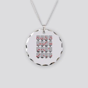 Uke Chord Cheat White Necklace Circle Charm