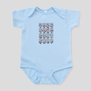 Uke Chord Cheat White Infant Bodysuit