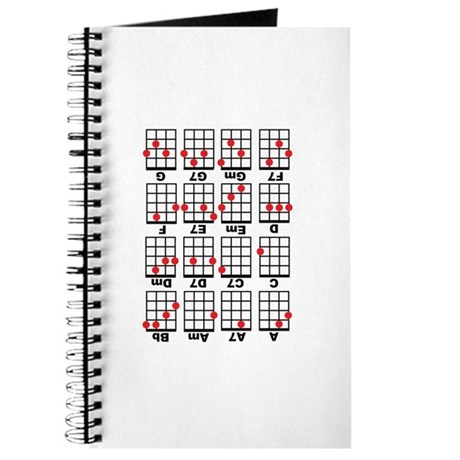 Uke Chord Cheat White Journal