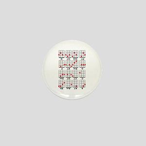 Uke Chord Cheat White Mini Button