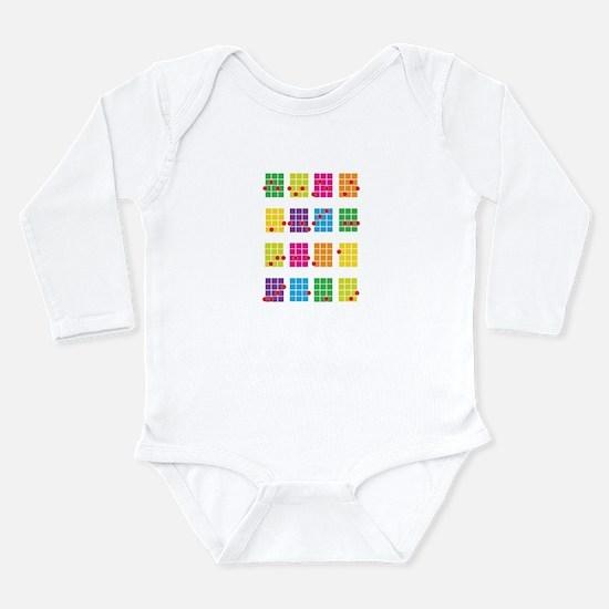 Uke Chords Colourful Long Sleeve Infant Bodysuit