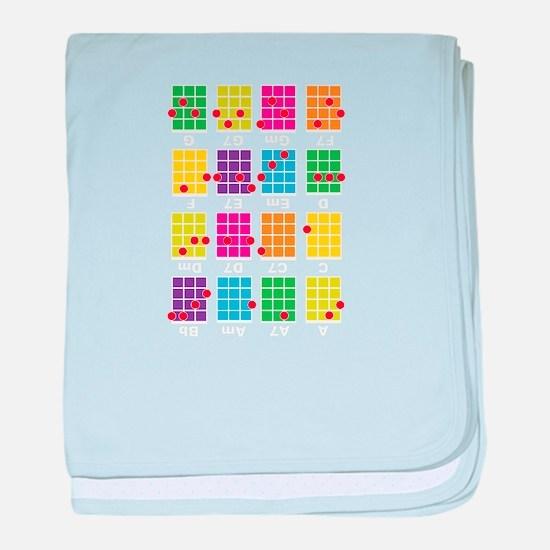 Uke Chords Colourful baby blanket