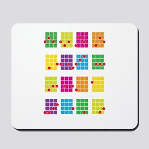 Uke Chords Colourful Mousepad