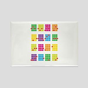Uke Chords Colourful Rectangle Magnet
